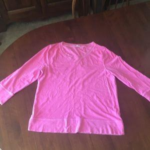 J.Crew bright pink long sleeved tee